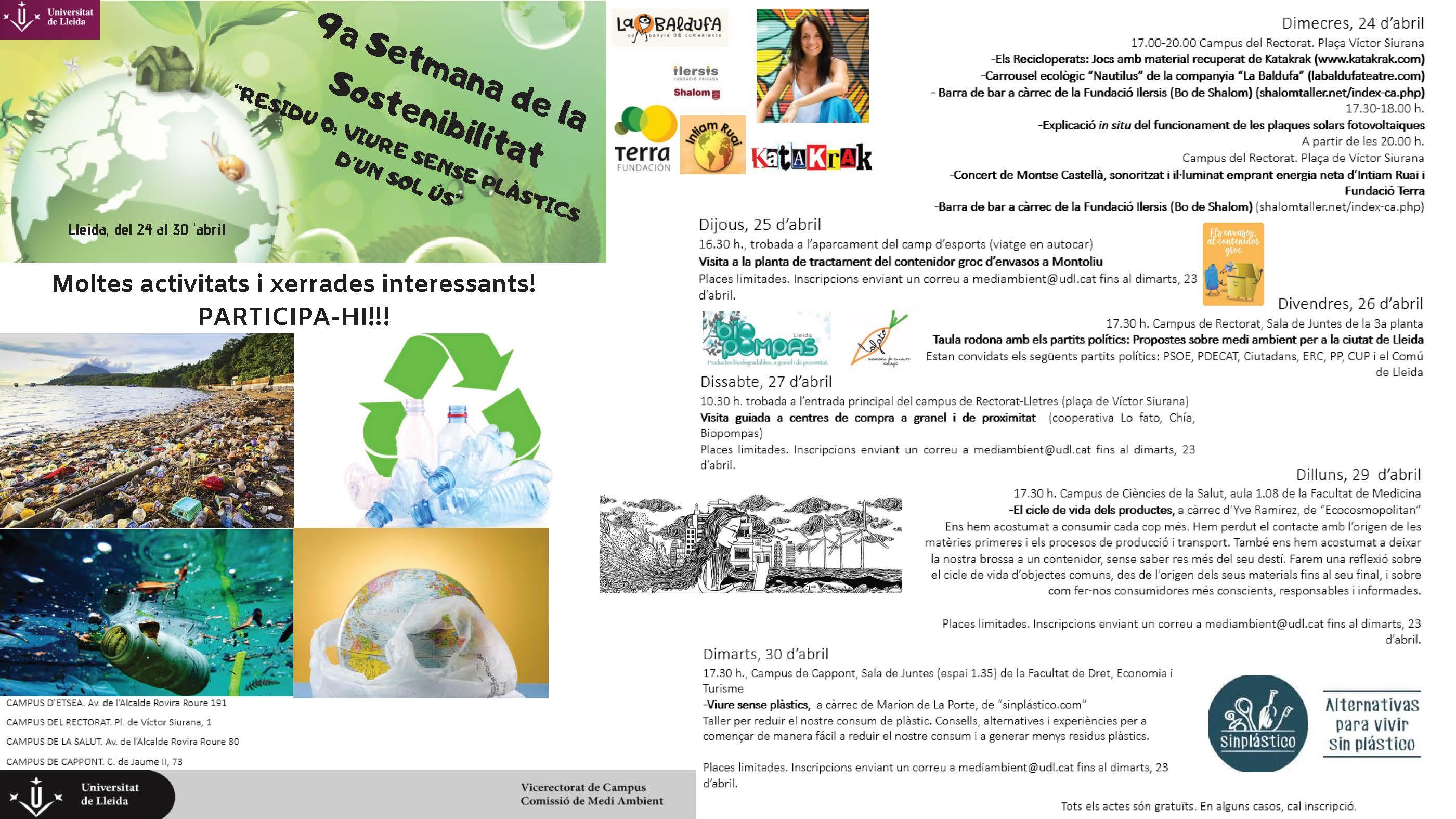 IXa Setmana de la Sostenibilitat - Lleida